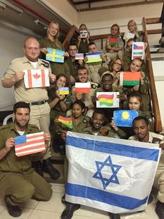 Soldiers from all over the world come to fight for Israel. Love them! Love IDF!