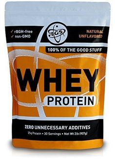 TGS All Natural 100% Whey Protein Powder - Unflavored Undenatured Unsweetened - Low Carb Soy Free Gluten Free GMO Free - 2lb