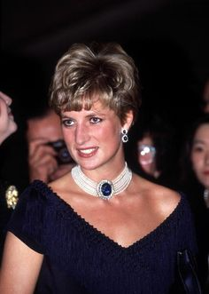 Princess Diana visits the National Arts Centre in Ottawa, Canada, October 1991.