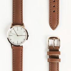The 30 Edition by Freedom To Exist is available with a genuine leather strap in tan and a rose gold case. #watches #deisgn