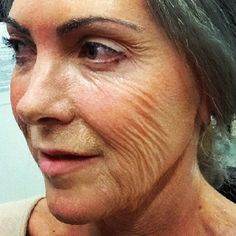 Old age makeup on 30 yr old by jacqueline priem, using latex. Ageing  with  latex, spfx makeup, fx , special  effects  makeup .
