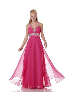 Gorgeous Chiffon V-neck Floor-length A-line Evening Dress  #HolidayMarkdown