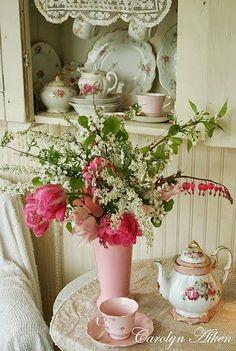 Pink n Green Tea time