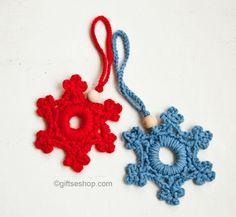 Christmas crochet patterns, snowflake pattern
