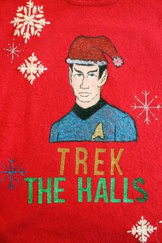 punk projects: Sparkle Ugly Christmas Sweater- Star Trek Style