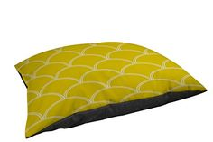 Thumbprintz IndoorOutdoor Large Breed Pet Bed Art Deco Circles Yellow and White >>> You can get additional details at the image link.