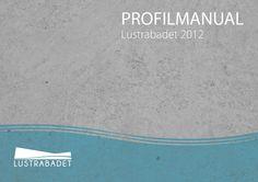 Profilmanual for Lustrabadet (Klikk på bildet for å se innholdet til profilmanualen)