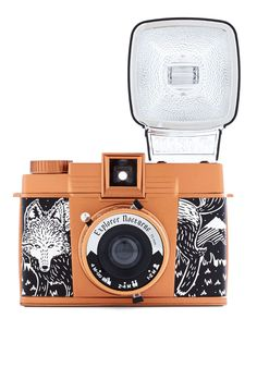 Diana F+ Camera in Nocturne. Celebrate the unique, retro style of Lomography with this special edition Diana camera! #orange #modcloth