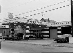Haffner's first gasoline station at Appleton & South Streets. The second is at Market & Dutton Streets in Lowell Massachusetts
