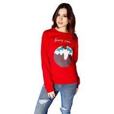 How sweet is this Christmas Novelty Jumper! Girls On Film Christmas pudding jumper   Debenhams