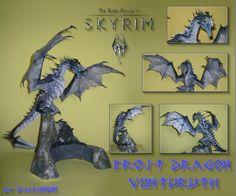 Frost Dragon - Viinturuth (Skyrim) Papercraft by DaiShiHUN on DeviantArt