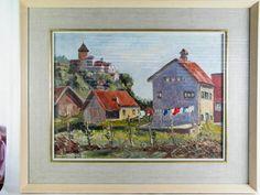 Original Oil Painting, Vaduz Castle By John McKillop