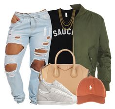 """""""Untitled #405"""" by princess-miyah ❤ liked on Polyvore featuring ASOS, WearAll, Givenchy and adidas"""