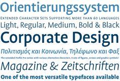FF Profile: Martin Wenzel (1999), 5 Fonts Light bis Black, passende Kursive  OT, OT Pro, Web, Office http://www.fontshop.com/fonts/family/ff_profile/