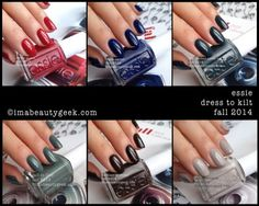 """Essie Fall 2014 """"Dress to Kilt"""" collection"""