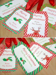 Editable Christmas Gift Tags - You can personalize the text yourself. by PixieBearParty on Etsy. Christmas Gift Tags Printable, Christmas Labels, Christmas Tag, Christmas Earrings, Handmade Christmas, Summer Christmas, Christmas Crafts For Kids, Printable Invitations, Party Printables