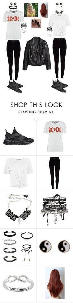"""""""💙"""" by melissa22du6 ❤ liked on Polyvore featuring NIKE, Boohoo, River Island, ASOS, Accessorize, Eternally Haute and H&M"""