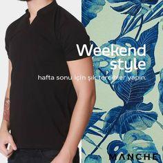 Yoğun bir haftanın ardından, sıcak havalarda stilinize dahil edeceğiniz rahat seçimler ve canlı tonlar tatil planlarınıza eşlik ediyor! 👉 http://www.manche.com.tr/koleksiyon/yaz-koleksiyonu/hakim-yaka-basic-tişört-siyah