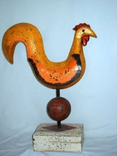Quebec Folk Art - Large Rooster