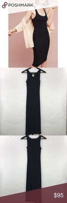 D&G Dolce Gabbana ribbed knit dress Sexy and comfy back sleeveless ribbed knit dress. Perfect little black dress to dress up or wear casually. D&G Dresses Midi