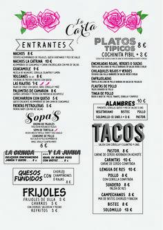 @debbiemarentes #menu #lacatrina #barcelona #designe #tacos #mexican