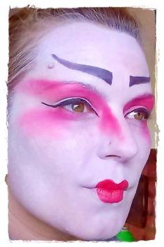 #maquillaje #artístico #fantasía #japonesa #Japanese #makeup #artistic