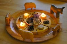 advent table decoration :: week 3 by waldorf mama, via Flickr