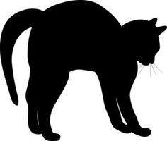 Black Cat Clipart Image - Silhouette Of A Cat With And Arched Back