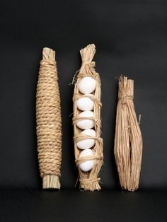 Japanese wrapping - five eggs wrapped in rice straw