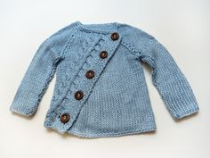 Stylish asymetric baby sweater by evahandmade on Etsy