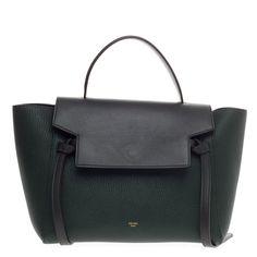 celine mini bicolor black leather cream tweed luggage tote