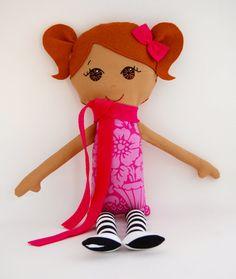 Cloth Doll Ethnic Brown Hair and Brown Eyes My Gigi by MyGigiDoll