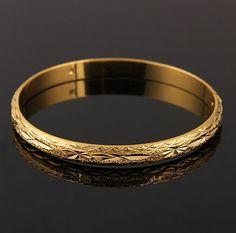 18k Gold Plated Vintage Charm Bracelets Bangles