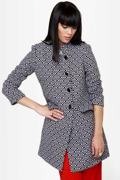 black and white coat | MY STYLE | Pinterest | White coats, Coats ...