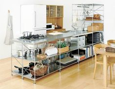 Kitchen [MUJI Stainless Steel Unit Shelf Kitchen] | Complete list of the winners | Good Design Award
