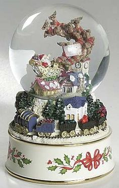 lenox christmas snow globes | ... lenox_china_holiday_figurals_giftware_snow_globe_P0000166557S0787T2