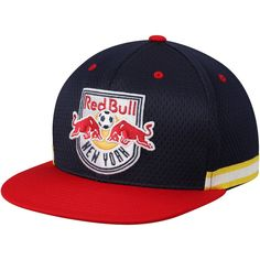 2cc5a343e8e Men s New York Red Bulls Mitchell  amp  Ness Blue Woven Stripe Adjustable Snapback  Hat