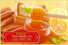 3 Fresh Homemade Face Masks for Acne Prone Skin // deliciousobsessions.com #acne #DIY #skincare