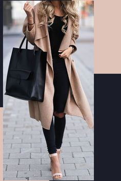 Women's work-business-office-college outfit ideas. Autumn-Outfit-Ideas-For-Ladies. Cardigan coat.