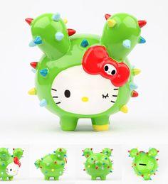 #tokidoki x #Sanrio Characters Holiday 2013 Collection #hellokitty x Cactus Pup coin bank