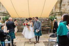 Bride and Groom from a Colourful and Quirky Outdoor Humanist Ceremony   Love My Dress® UK Wedding Blog