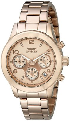 Invicta Women's 19218 Angel Analog Display Japanese Quartz Rose Gold Watch *** Want to know more about the watch, click on the image.