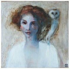 celine ranger paintings | La dame blanche by Céline RANGER Pinned by www.myowlbarn.com