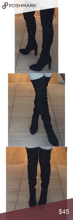 Thigh High Boots Gorgeous Cape Robbin thigh high boots, snug fit   Size 6.5, run big, so I used them only once and ended up buying a whole size smaller Shoes Over the Knee Boots