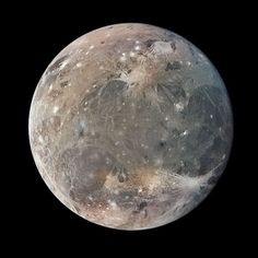 Ganymede, a moon of Jupiter and the largest in the Solar System Ganymede Moon, Cosmos, Polar Caps, Moon Orbit, Jupiter Moons, Gas Giant, Dwarf Planet, Space And Astronomy, Our Solar System