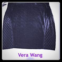 Black Velvet Skirt Cute black velvet skirt. Elastic waistband and a diamond pattern on both sides. Brand new with tags Vera Wang Skirts