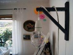 DIY tutorial: Industrial Style Wall Lamp via DaWanda.com