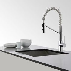 KRAUS Mateo Single-Handle Commercial Style Pull-Down Sprayer Kitchen Faucet in Chrome-KPF-2630CH - The Home Depot