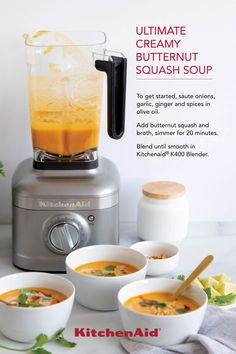 Fuel your culinary passion with the revolutionary KitchenAid Passion Red Variable Speed Blender, product number New Recipes, Soup Recipes, Vegan Recipes, Cooking Recipes, Immersion Blender Recipes, Clean Eating, Healthy Eating, Plant Based Recipes, Soups And Stews