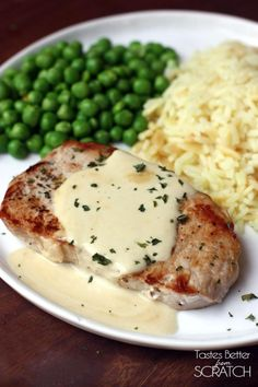The Mister loved the mustard sauce as much as I did!   Pork Chops with Creamy Mustard Sauce